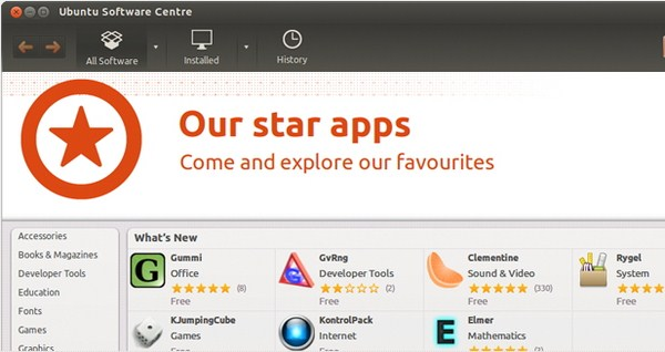 Software Center di Ubuntu 12.04