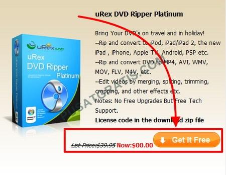 Dapatkan Lisensi uRex DVD Ripper Platinum Secara Gratis dan Legal
