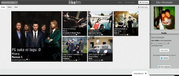 Like.fm: Jejaring Sosial Bagi Pecinta Musik