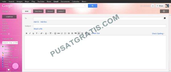 Setting Dark Custom Theme Gmail