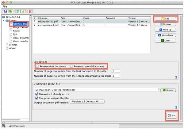 Menggabungkan file PDF dengan PDFsamq