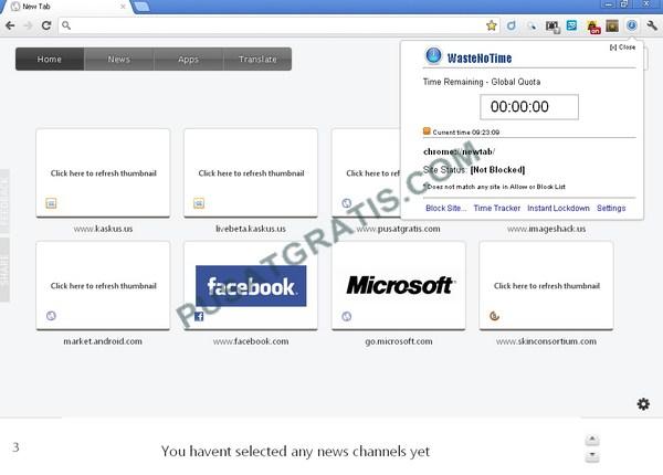 Extension Google Chrome Untuk Memanajemen Waktu dan Memblock Situs