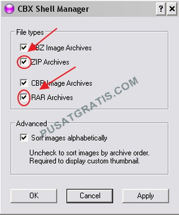 Aplikasi untuk menampilkan Thumbnails bagi File CBZ, CBR, ZIP & RAR