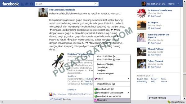 Melewatkan Permintaan Install Aplikasi Facebook Social Reader