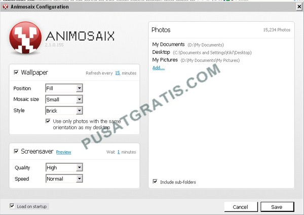 Membuat Tampilan Desktop Lebih Keren dengan Menggunakan Aplikasi Animosaix