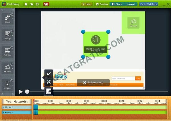 ClickBerry: Menambahkan Elemen Interaktif pada Video dan Membaginya di Facebook