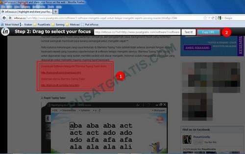 Menunjukkan Bagian Tertentu dari Sebuah Website dan Membagikannya ke Teman Anda