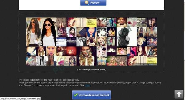 Membuat Kolase Foto Instagram untuk Cover Timeline Facebook dengan InstaCover