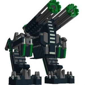 konstruksi lego yang didesain dengan Lego Digital Designer