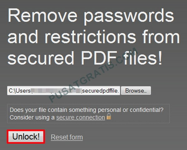 Cara Membuka Proteksi PDF tanpa Menggunakan Software Apapun