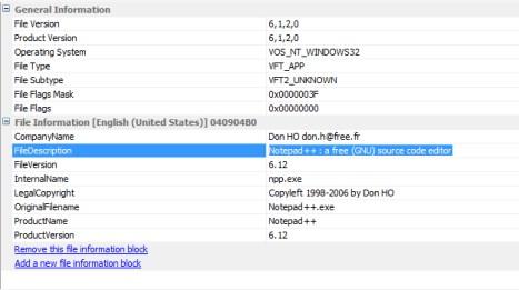 Cara menghapus metadata di executable file