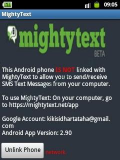 MightyText: Menghubungkan Android ke PC untuk SMS-an