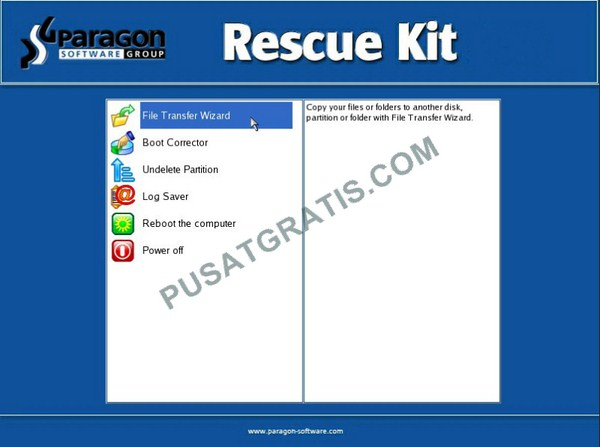 Tampilan Home Paragon Rescue Kit 11