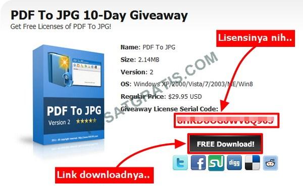 Dapatkan Lisensi Software PDF to JPG Converter secara Legal
