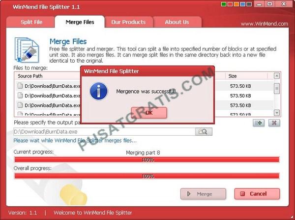Cara Menggabungkan File dan Memecah File dengan WinMend File Splitter