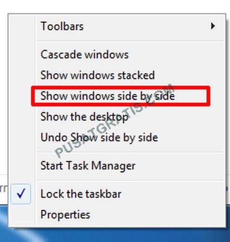 Cara Termudah untuk Menampilkan Window Secara Side by Side