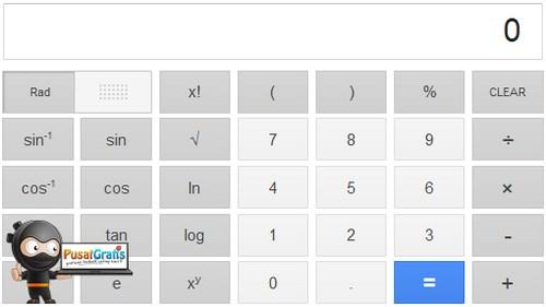 Mengerjakan Matematika Tidak Sulit Lagi Dengan Adanya Google Calculator
