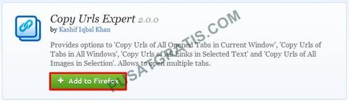 Copy Urls Expert: Copy Semua URL di Tab Firefox yang Terbuka