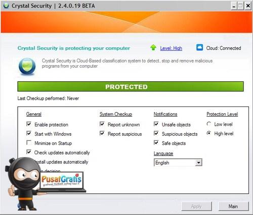 Crystal Security: Mencegah Program Mencurigakan Masuk ke Sistem Komputermu
