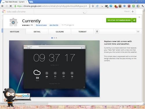Menambahkan Waktu dan Cuaca pada Tab Google Chrome