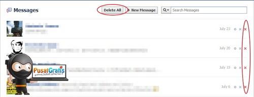 Cara Menghapus Semua Pesan di FB dengan Super Cepat