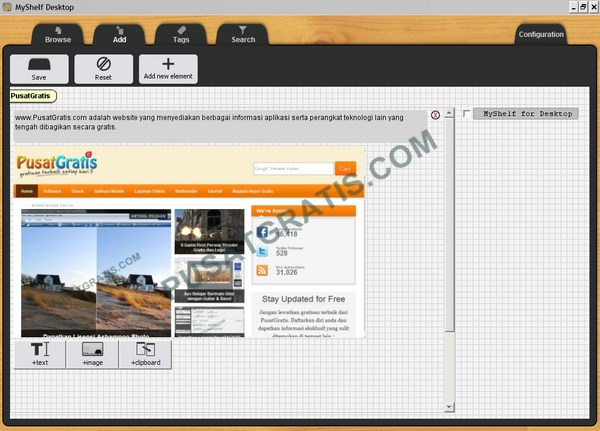 MyShelf : Aplikasi Desktop Gratis untuk Mencatat Berbagai Hal