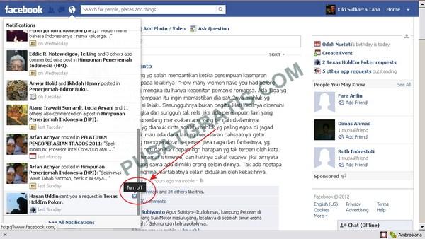 Cara Super Cepat untuk Mematikan Notifikasi Facebook yang Mengganggu