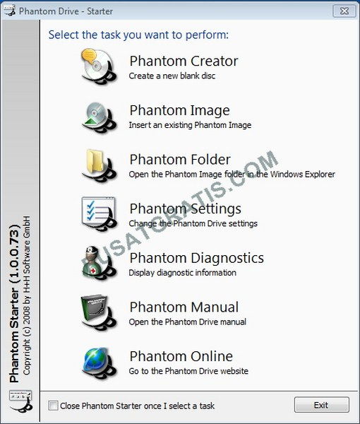 Dapatkan Lisensi Phantom Drive - Software Virtual CD, DVD, dan Blu-Ray