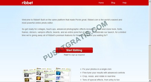 Ribbet Photo Editor