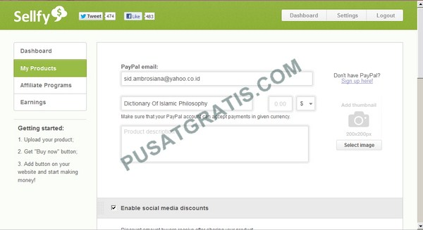 Pengen Jualan Produk Digital Secara Online? Gunakan Saja Sellfy!