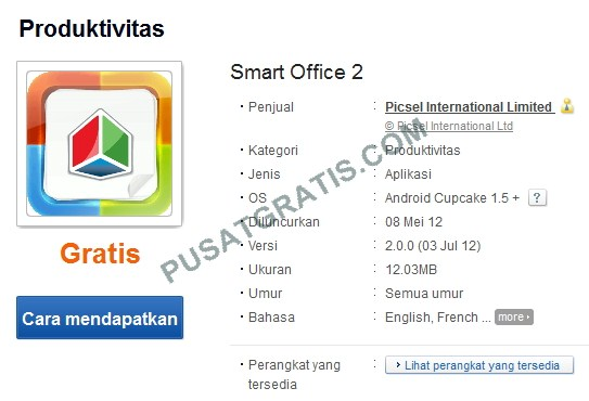 Aplikasi Office untuk Android - Smart Office 2