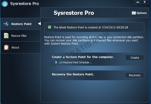 Dapatkan Lisensi SysRestore Pro Senilai $29.95