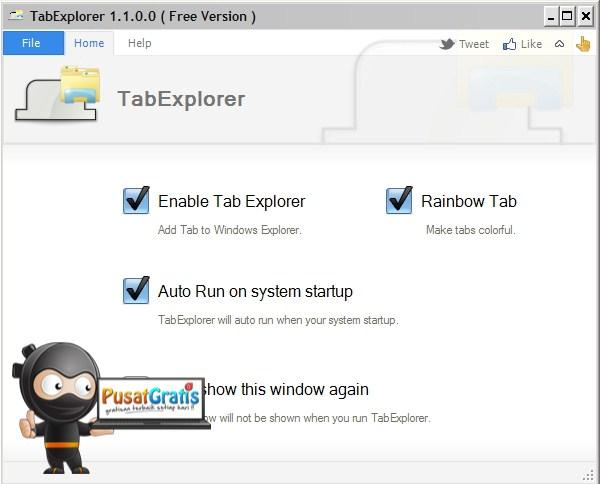Instalasi Tab Explorer