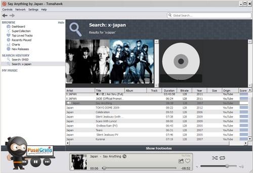 Tomahawk: Pemutar Musik yang Dilengkapi Online Streaming