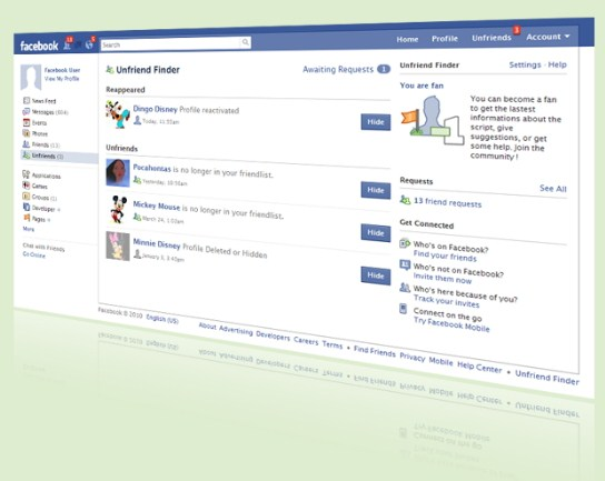 Unfriend Finder: Ngintip Teman yang Unfriend Kita di Facebook Yuk!