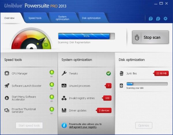 Meningkat Kinerja dan Perawatan PC Dengan Uniblue Powersuite 2013