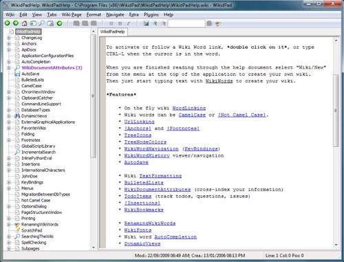 Membuat Wiki Seperti Wikipedia di Komputer dengan WikidPad