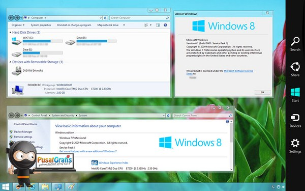 Mengubah Tampilan Windows 7 ke Windows 8 Tanpa Ribet