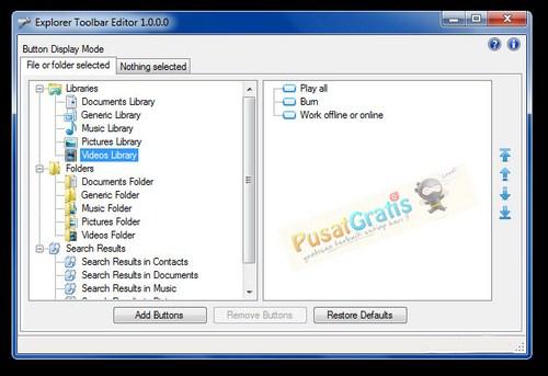 Jadikan Windows Explorermu Lebih Bermanfaat Menggunakan Editor Toolbar Explorer