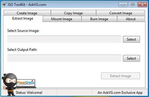 Create, Copy, Convert, dan Extract Image Disc Menggunakan ISO Toolkit