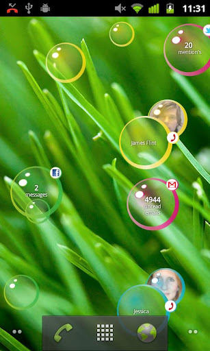 Notification Bubbles Free: Aplikasi Live Wallpaper Android yang Kaya Fitur