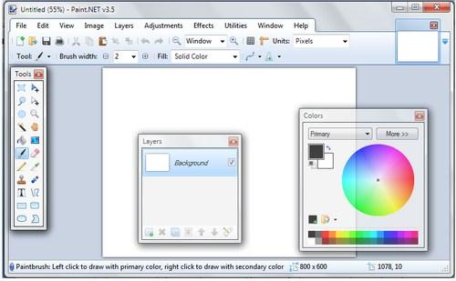 Satu Lagi Software Image Editor Gratis: Paint.NET