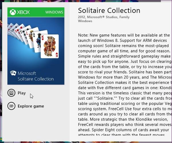 Apa yang terjadi dengan Solitare dan Minesweeper pada Windows 8?