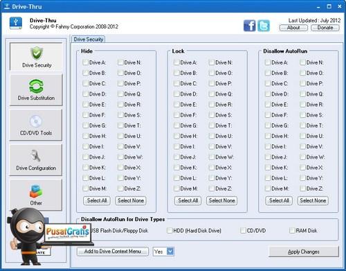 Mengatur Setting Hard Disk dengan Drive Thru