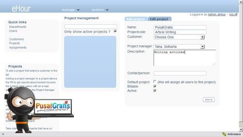 eHour: Aplikasi Project Management untuk 'Kantor' Online