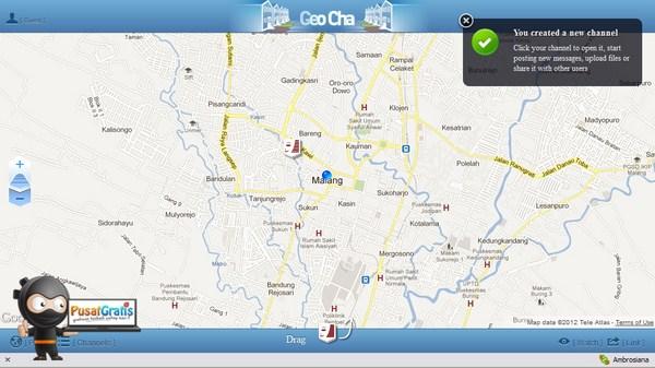 GeoCha: Web Aplikasi untuk Chatting berbasis Lokasi