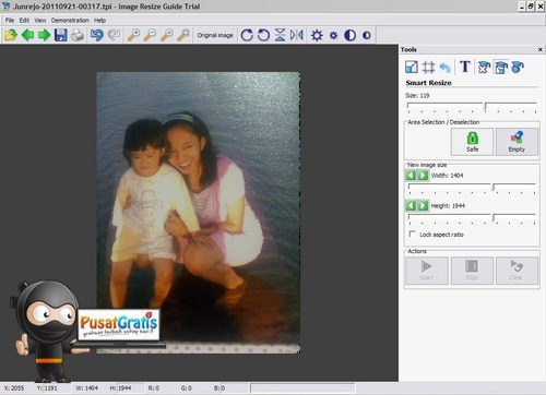 Melakukan Resize pada Gambar tanpa Mengubah Ukuran Subyeknya