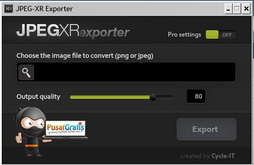 Mengubah Format Gambar PNG dan JPG menjadi JPEG XR dengan JPEG XR Exporter
