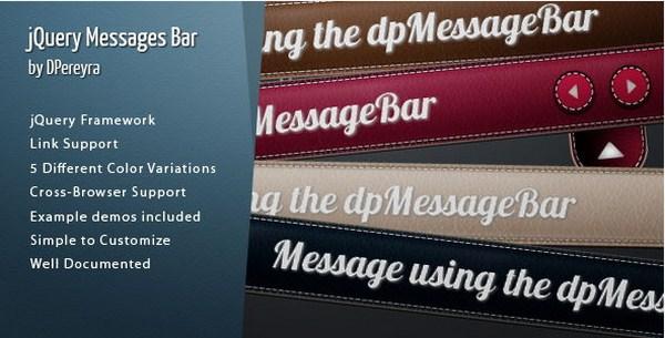Dapatkan jQuery Messages Bar Senilai $4