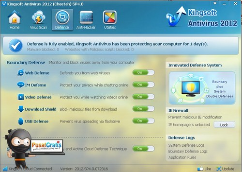 Kingsoft Cloud Antivirus: Paket Anti virus, Anti malware, dan Anti Hack! Wow!